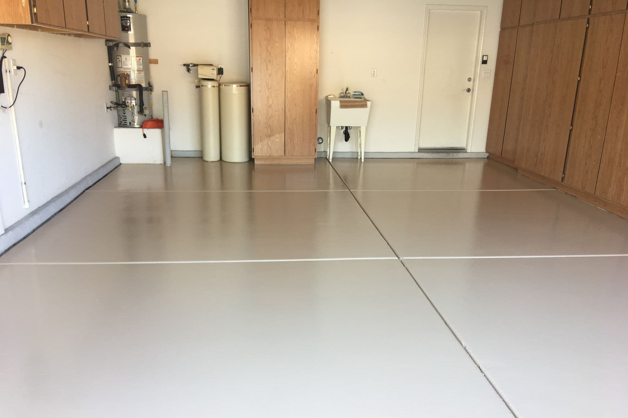 Garage Epoxy Coating One Solid Color Dc Painting Llc